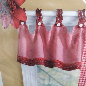 """Home Collection Cherry Pie Tab Valance 50x15"""" 3pk"""